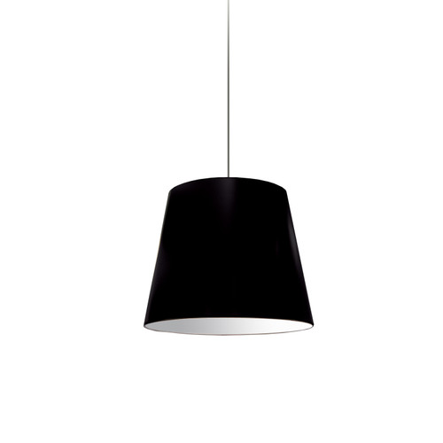 Dainolite Lighting  OD-S-797 1 Light Oversized Drum Pendant Small Black Shade