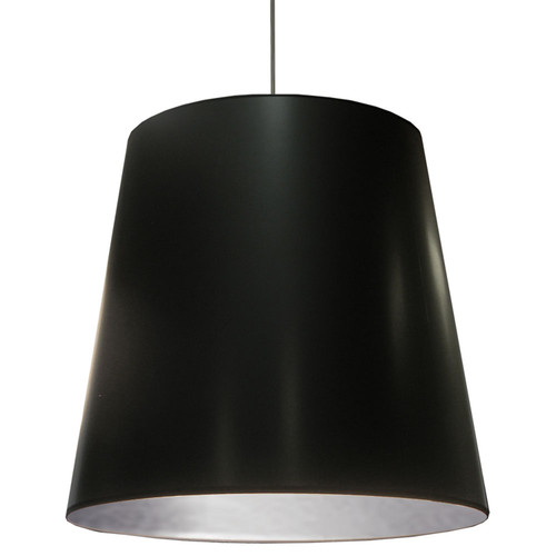 Dainolite Lighting  OD-XL-697 1 Light Oversized Drum Pendant with Black  on Silver Shade,X-Large
