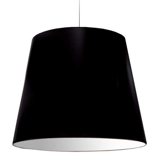 Dainolite Lighting  OD-XL-797 1 Light Oversized Drum Pendant X-Large Black Shade