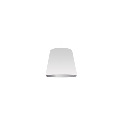 Dainolite Lighting  OD-XS-691 1 Light Tapered Drum Pendant with White on Silver Shade