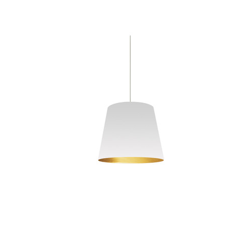 Dainolite Lighting  OD-XS-692 1 Light Tapered Drum Pendant with White on Gold Shade