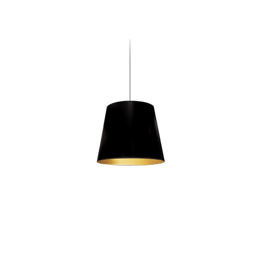 Dainolite Lighting  OD-XS-698 1 Light Tapered Drum Pendant with Gold on Black Shade
