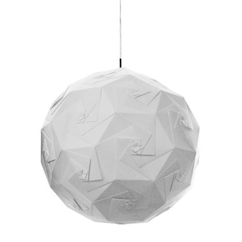 Dainolite Lighting  ORI-1P-WH 1 Light Origami Pendant JTone White White