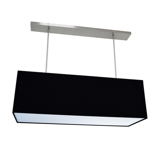 Dainolite Lighting  OR-L-BK 4 Light Oversized Rect Pendant,Large, Black w/ Fabric Diffuser