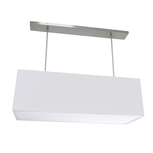 Dainolite Lighting  OR-L-WH 4 Light Oversized Rect Pendant, Large White w/ Fabric Diffuser