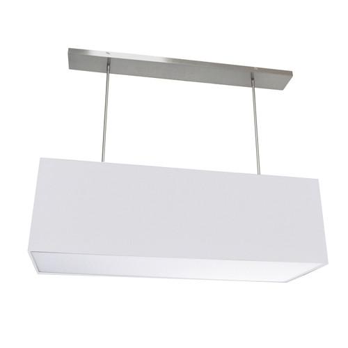 Dainolite Lighting  OR-L-WH 4 Light Oversized Rect Pendant, Large White w/ Fabric Diffuser
