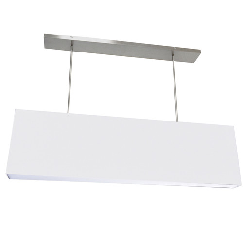 Dainolite Lighting  OR-S-WH 4 Light Oversized Rect Pendant, Small White w/ Fabric Diffuser