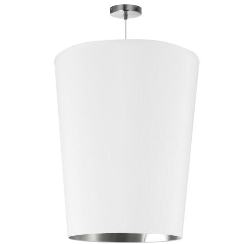 Dainolite Lighting  PAI-L-691 1 Light Paisley Pendant White on Silver, Large Polished Chrome