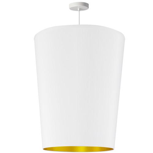 Dainolite Lighting  PAI-L-692 1 Light Paisley Pendant White on Gold, Large White
