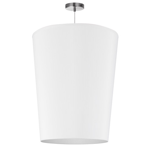 Dainolite Lighting  PAI-L-790 1 Light Paisley Pendant JTone White, Large Polished Chrome