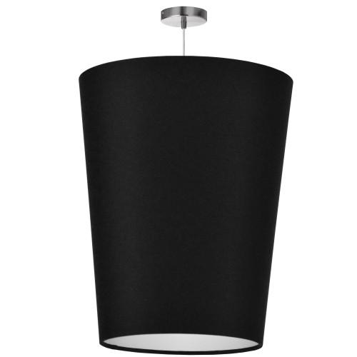 Dainolite Lighting  PAI-L-797 1 Light Paisley Pendant JTone Black, Large Polished Chrome
