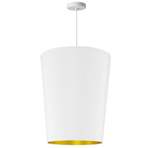Dainolite Lighting  PAI-M-692 1 Light Paisley Pendant White on Gold, Medium White
