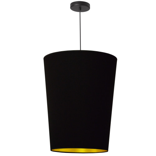 Dainolite Lighting  PAI-M-698 1 Light Paisley Pendant Black on Gold, Medium Black