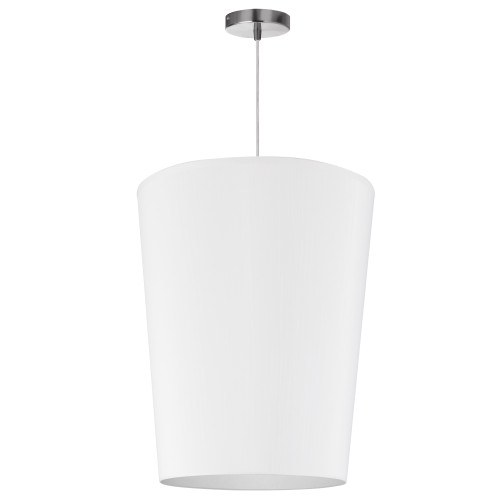 Dainolite Lighting  PAI-M-790 1 Light Paisley Pendant JTone White, Medium Polished Chrome