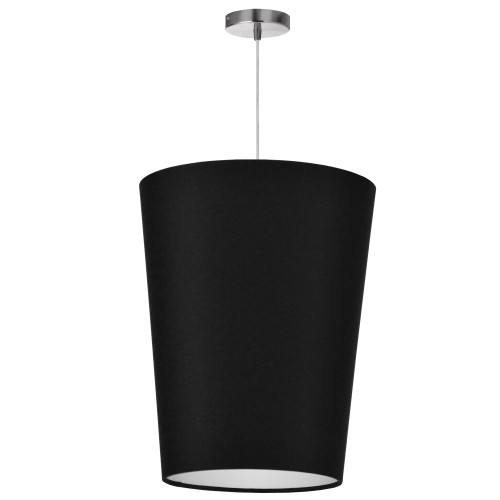 Dainolite Lighting  PAI-M-797 1 Light Paisley Pendant JTone Black, Medium Polished Chrome
