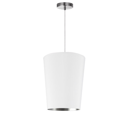 Dainolite Lighting  PAI-S-691 1 Light Paisley Pendant White on Silver, Small Polished Chrome