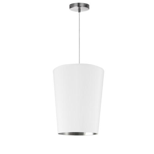 Dainolite Lighting  PAI-S-691 1 Light Paisley Pendant White on Silver, Small Polished Chrome