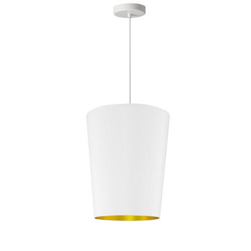 Dainolite Lighting  PAI-S-692 1 Light Paisley Pendant White on Gold, Small White