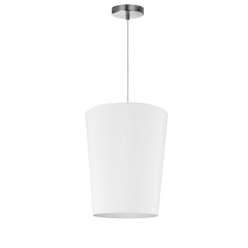 Dainolite Lighting  PAI-S-790 1 Light Paisley Pendant JTone White, Small Polished Chrome