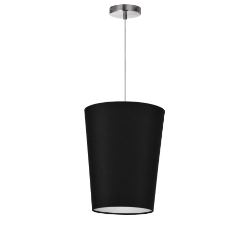 Dainolite Lighting  PAI-S-797 1 Light Paisley Pendant JTone Black, Small Polished Chrome