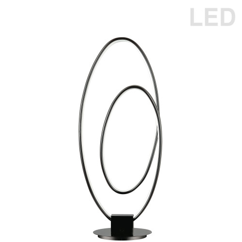 Dainolite Lighting  PHX-2130LEDT-MB 30W LED Table Lamp, Matte Black