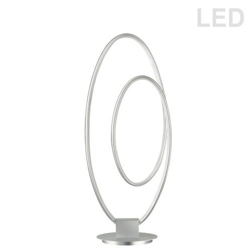 Dainolite Lighting  PHX-2130LEDT-SV 30W LED Table Lamp, Silver