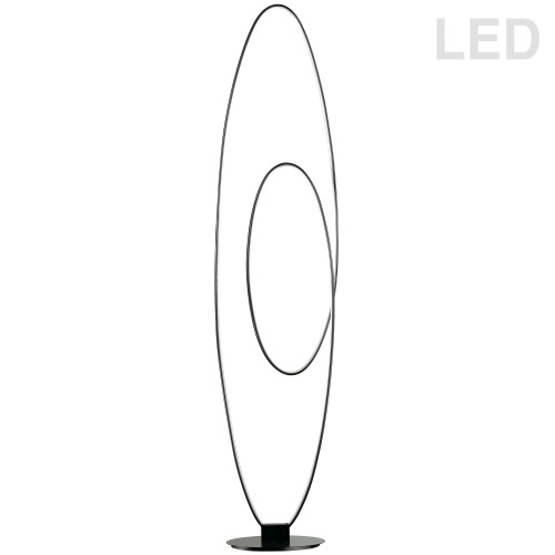 Dainolite Lighting  PHX-6060LEDF-MB 60W LED Floor Lamp, Matte Black