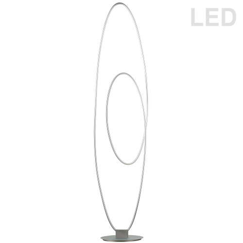 Dainolite Lighting  PHX-6060LEDF-SV 60W LED Floor Lamp, Silver