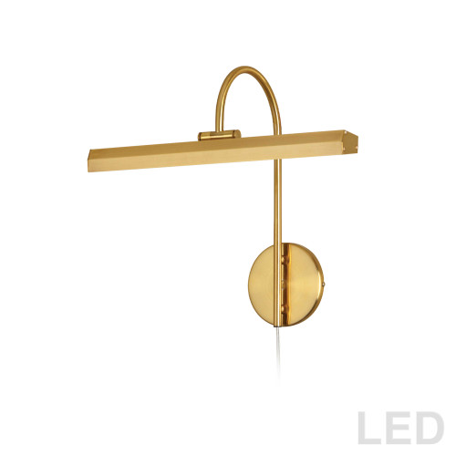Dainolite Lighting  PIC120-16LED-AGB 24W Picture Light Aged Brass Finish