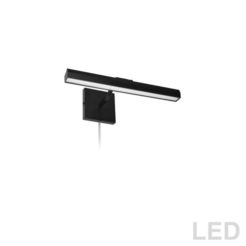 "Dainolite Lighting  PIC222-16LED-MB 20W 16"" Picture Light, Matte Black with Frosted Glass Diffuser"