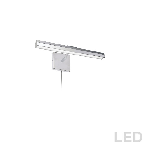 "Dainolite Lighting  PIC222-16LED-PC 20W 16"" Picture Light, Polished Chrome with Frosted Glass Diffuser"