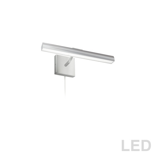 "Dainolite Lighting  PIC222-16LED-SC 20W 16"" Picture Light, Satin Chrome with Frosted Glass Diffuser"