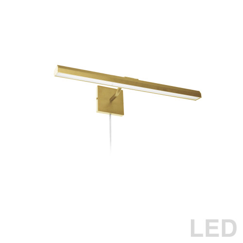 "Dainolite Lighting  PIC222-24LED-AGB 30W 24"" Picture Light, Aged Brass with Frosted Glass Diffuser"