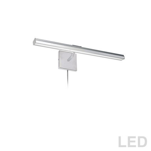 "Dainolite Lighting  PIC222-24LED-PC 30W 24"" Picture Light, Polished Chrome with Frosted Glass Diffuser"