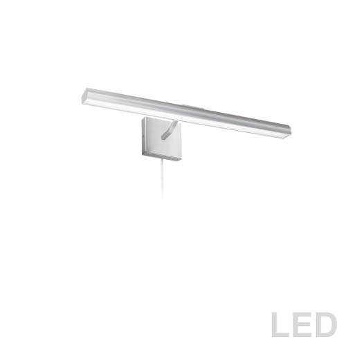 "Dainolite Lighting  PIC222-24LED-SC 30W 24"" Picture Light, Satin Chrome with Frosted Glass Diffuser"