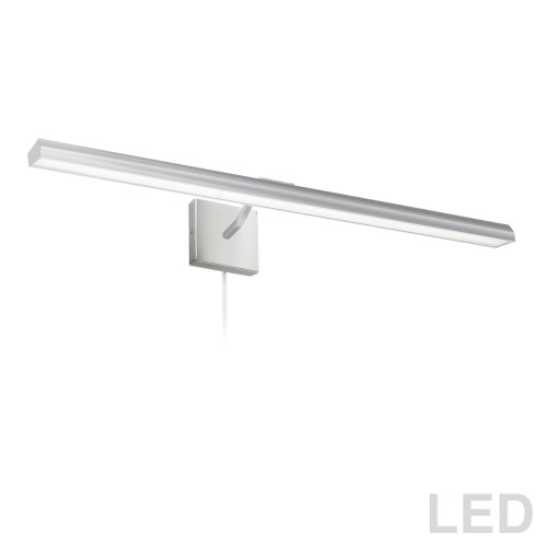 "Dainolite Lighting  PIC222-32LED-SC 40W 32"" Picture Light, Satin Chrome with Frosted Glass Diffuser"