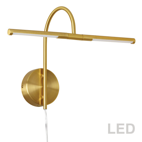 Dainolite Lighting  PICLED-152-AGB 6W LED Picture Light Aged Brass Finish