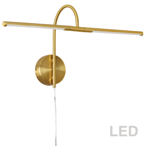 Dainolite Lighting  PICLED-242-AGB 10W LED Picture Light Aged Brass Finish