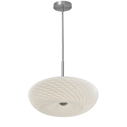 Dainolite Lighting  PLD-1516-SC LED Pendant with Mackerel Glass