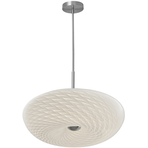Dainolite Lighting  PLD-1520-SC LED Pendant with Mackerel Glass