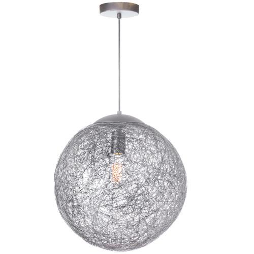Dainolite Lighting  PTN-151P-AL 1 Light Incandescent Pendant, Aluminum