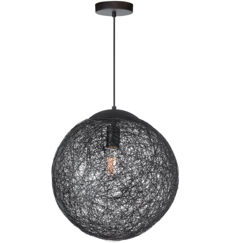 Dainolite Lighting  PTN-151P-BK 1 Light Incandescent Pendant, Black