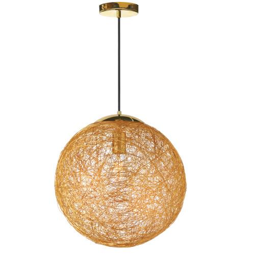 Dainolite Lighting  PTN-151P-GLD 1 Light Incandescent Pendant, Gold