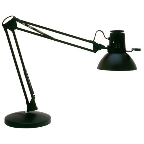 "Dainolite Lighting  REMIE-II-BK Spring Balanced Arm Desk Lamp, Gloss Black, 36"" Reach"