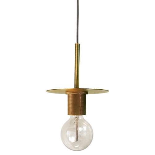 Dainolite Lighting  RSW-61P-AGB 1 Light Incandescent Pendant, Aged Brass