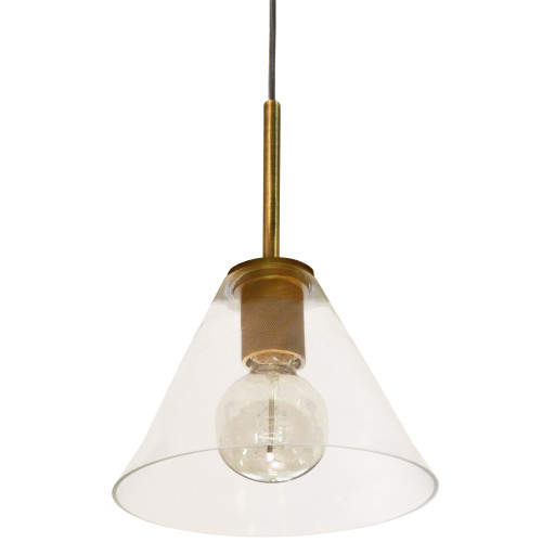 Dainolite Lighting  RSW-91P-AGB-CLR 1 Light Incandescent Pendant, Aged Brass with Clear Glass