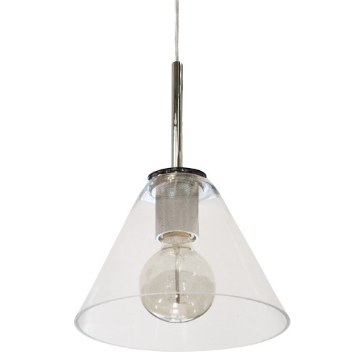 Dainolite Lighting  RSW-91P-PC-CLR 1 Light Incandescent Pendant, Polished Chrome with Clear Glass