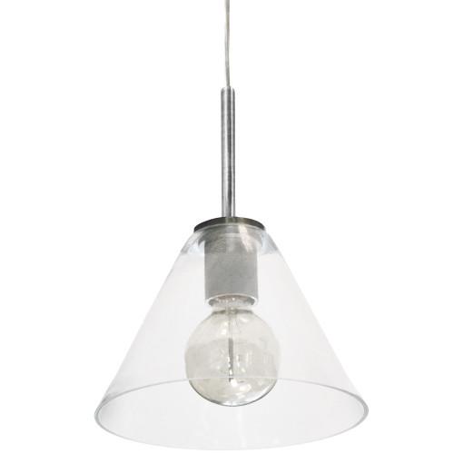 Dainolite Lighting  RSW-91P-SC-CLR 1 Light Incandescent Pendant, Satin Chrome with Clear Glass