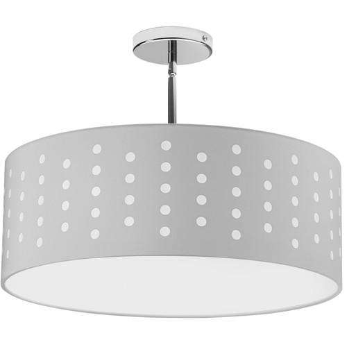 Dainolite Lighting  SAB-194P-PC-WH 4 Light Pendant Drum White/White Shade