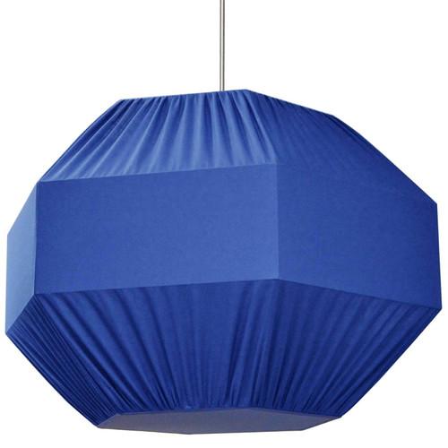 Dainolite Lighting  SAG-L-BL 4 Light Sage Pendant Blue Shade,Fabric Diffuser Large ,Polished Chrome